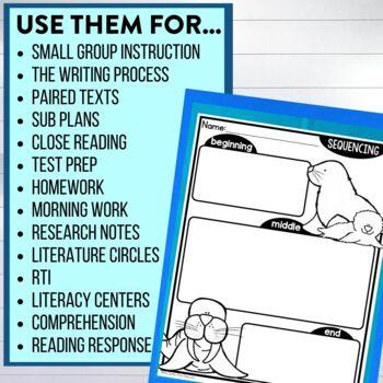 ARCTIC ANIMALS | Graphic Organizers for Reading | Reading Graphic Organizers