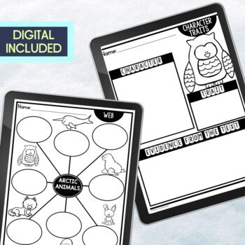 ARCTIC ANIMALS | Graphic Organizers for Reading | Reading Graphic Organizers