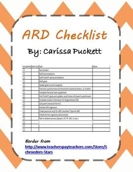 ARD Checklist