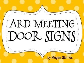 ARD Meeting Door Signs