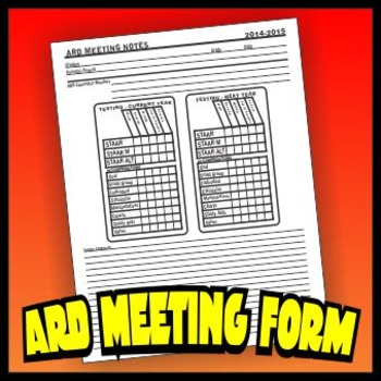 A.R.D. Meeting Notes Form