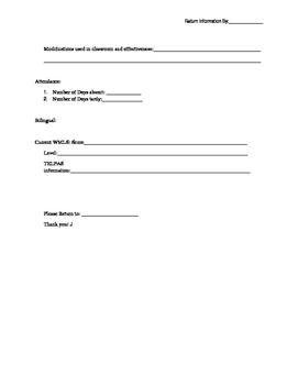 ARD information from Teachers