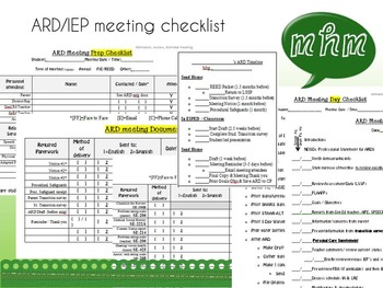 Editable ARD/IEP meeting checklist