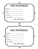 ARD reminder slip