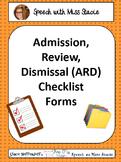 ARD/IEP checklist forms
