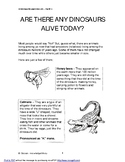 ARE THERE ANY DINOSAURS ALIVE TODAY?