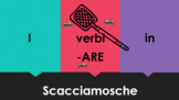 ARE Verbs in Italian Scacciamosche Flyswatter Game Google Slides