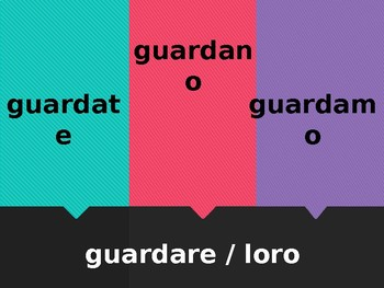 ARE verbs Verbi ARE in Italian Scacciamosche Flyswatter game