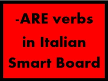 ARE verbs in Italian Game board for Smartboard