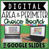 AREA AND PERIMETER DIGITAL CHOICE BOARD IN GOOGLE SLIDES™