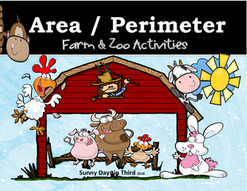 AREA AND PERIMETER  ACTIVITIES / WORKSHEETS & TASK CARDS BUNDLE!