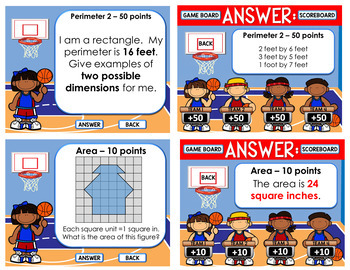 AREA AND PERIMETER GAME: AREA AND PERIMETER POWERPOINT GAME SHOW