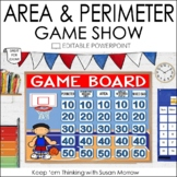 AREA AND PERIMETER GAME SHOW: AN EDITABLE POWERPOINT REVIEW GAME