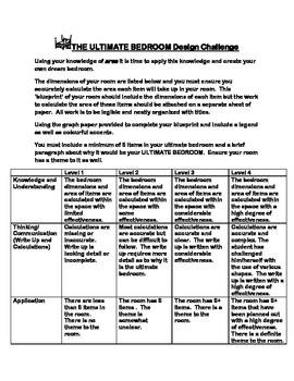 AREA CULMINATING TASK: The Ulitmate Bedroom Challenge (PDF)