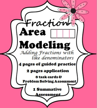 AREA MODELING Add Like Fractions using Area Models