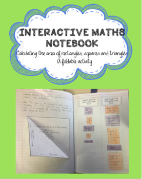 FREEBIE! AREA OF A RECTANGLE & TRIANGLE- (INTERACTIVE MATHS BOOK)