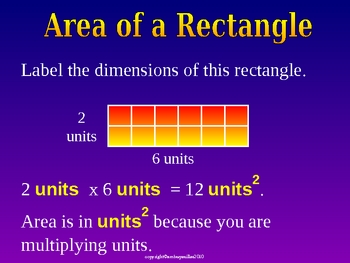 AREA OF A RECTANGLE & SQUARE a Powerpoint Presentation