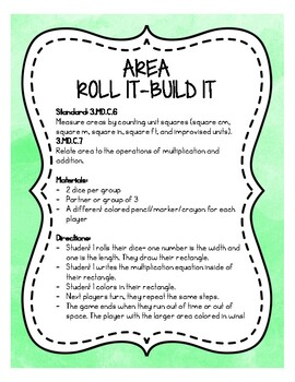 AREA: Roll It- Build It Game