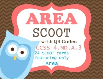 AREA SCOOT QR codes CCSS 4.MD.3.A