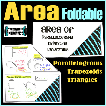 AREA Triangles Parallelograms Trapezoids Foldable Notes Interactive Notebook