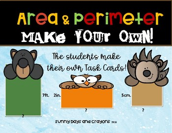 FREE AREA and PERIMETER COMMON CORE ~ MAKE YOUR OWN