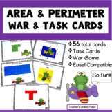 Area and Perimeter Games -  War, Task Cards and Anchor Charts!