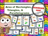 AREA of RECTANGLES, TRIANGLES, & PARALLELOGRAMS Scavenger