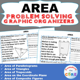 AREA of TRIANGLE, PARALLELOGRAM, TRAPEZOID Word Problems with Graphic Organizer