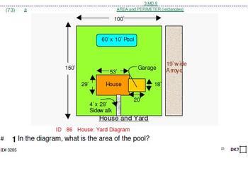 Grades 3-10: AREA problems in Common Core grade-domain order: 25 pgs
