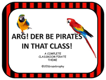 Pirate Themed Classroom Decor
