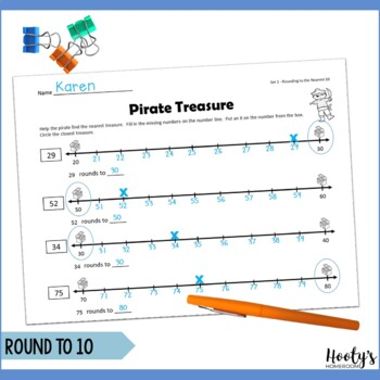 ARGHH Rounding - Using Number Lines to Round to the Nearest Ten or Hundred