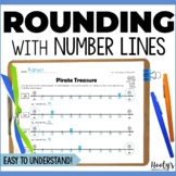 Worksheets Using Number Lines to Round to the Nearest Ten or Hundred