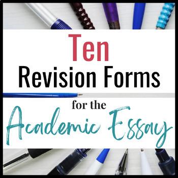 ARGUMENT ESSAY REVISION:  Ten Worksheets for Success