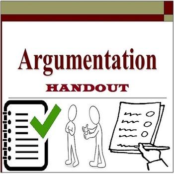 ARGUMENTATION FORMAT: HANDOUT