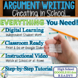 Argumentative Writing Lesson / Prompt – w/ Digital Resource – Cheating in School