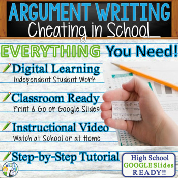 ARGUMENTATIVE / ARGUMENT WRITING PROMPT  - Cheating in Sch