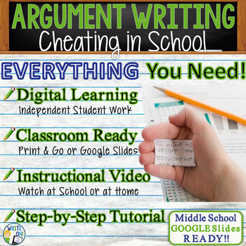 Argumentative Writing Lesson Prompt w/ Digital Resource - Cheating in School