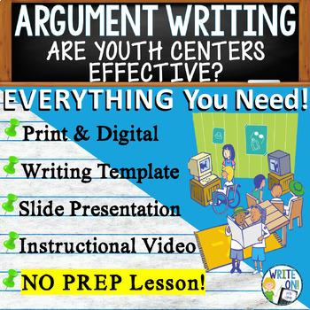 ARGUMENTATIVE / ARGUMENT WRITING PROMPT  - Donation - High School