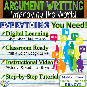 Argumentative Writing Lesson w/ Digital Resource - Youth Improving the World