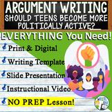 Argumentative Writing Lesson w/ Digital Resource - Youth I
