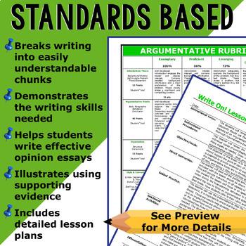 Argumentative Writing Lesson Prompt w/ Digital Resource – Standardized Testing