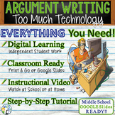 Argumentative Writing Middle School Graphic Organizer Rubric Too Much Technology