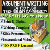 Argumentative Writing Lesson / Prompt w/Digital Resource –