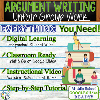 Argumentative Writing Lesson / Prompt w/ Digital Resource – Unfair Group Work