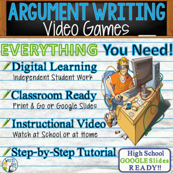 Argumentative Writing Lesson / Prompt – with Digital Resource – Video Games