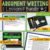 Argumentative Writing Lessons Prompts BUNDLE!! w/ Digital Resources  11 Lessons!