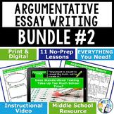 Argumentative Writing Middle School BUNDLE!! 11 Argument Writing Lessons!!!