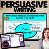 ARGUMENTATIVE ESSAY Writing: Google Classroom WORKSHOP