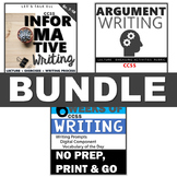 ARGUMENTATIVE & INFORMATIVE WRITING ESSAYS BUNDLE - INCLUD