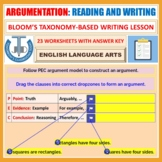 ARGUMENTATIVE WRITING - 10 WORKSHEETS WITH ANSWERS